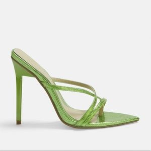 ▪️nwt green croc heels▪️missguided pointed toe